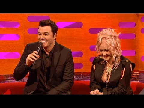 Seth MacFarlane as Stewie and Peter Griffin sings Cyndi Lauper - The Graham Norton Show