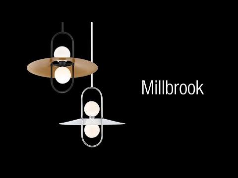 Video for Millbrook Black Two-Light LED Chandelier