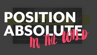 Using CSS Position Absolute: Some Practical Examples