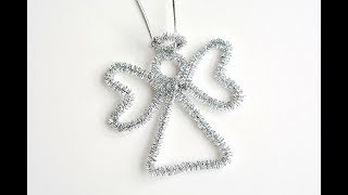 How To Make Pipe Cleaner Angel Ornaments