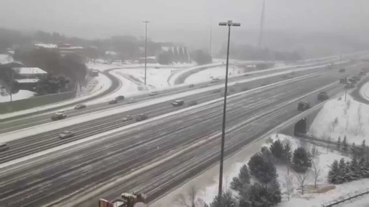 Watch This Army Of 21 Snow Plows Team Up To Clear A Canadian Highway
