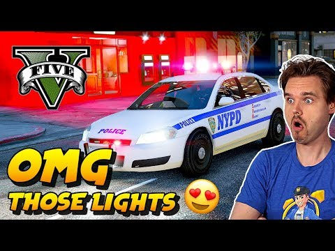 GTA 5 LSPDFR NYPD New York Police Has The Best Lightbar! | GTA V Realistic Police Patrol Mod