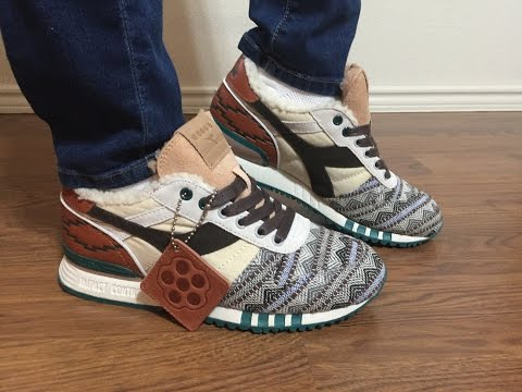 Wife's review on the Extra Butter collab  Diadora Titan Spaghetti Western on feet review