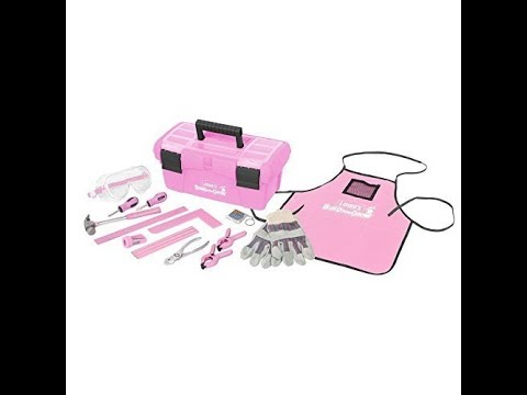 Lowe's Build and Grow 16 Piece Child's Tool Set w/ Pink Toolbox - Tools for Kids Size Hands!