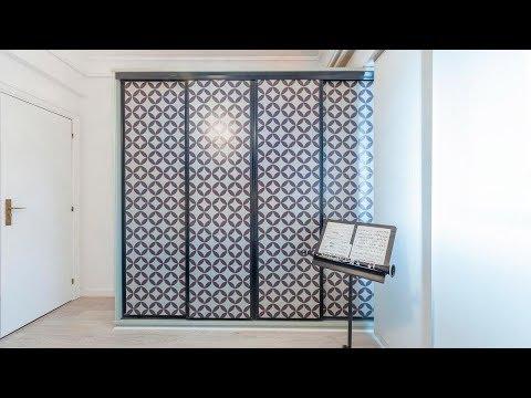Cómo decorar las puertas del armario de espejo con vinilos - Decogarden