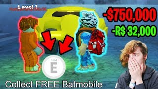 GIVING FANS BATMOBILE & TORPEDO FOR *FREE* RIP $750,000 (32k ROBUX) | Roblox Jailbreak Winter Update