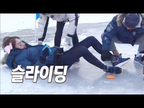 이광수, 김종국 딱지치기 방해하는 '꽈당 몸개그' 《Running Man》런닝맨 EP469 (видео)