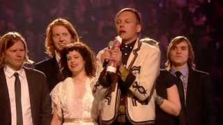 Arcade Fire win International Album presented by Boris Becker   BRIT Awards 2011