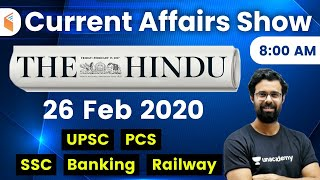 8:00 AM - Daily Current Affairs 2020 by Bhunesh Sir | 26 February 2020 | wifistudy