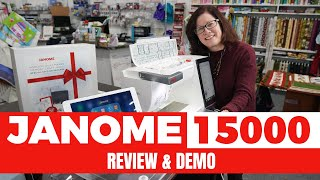 Janome Horizon Quiltmaker Pro 15000 Hands on Review & Demo