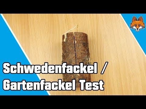 Schwedenfeuer - kleine Gartenfackeln aus Holz im Test 🔥