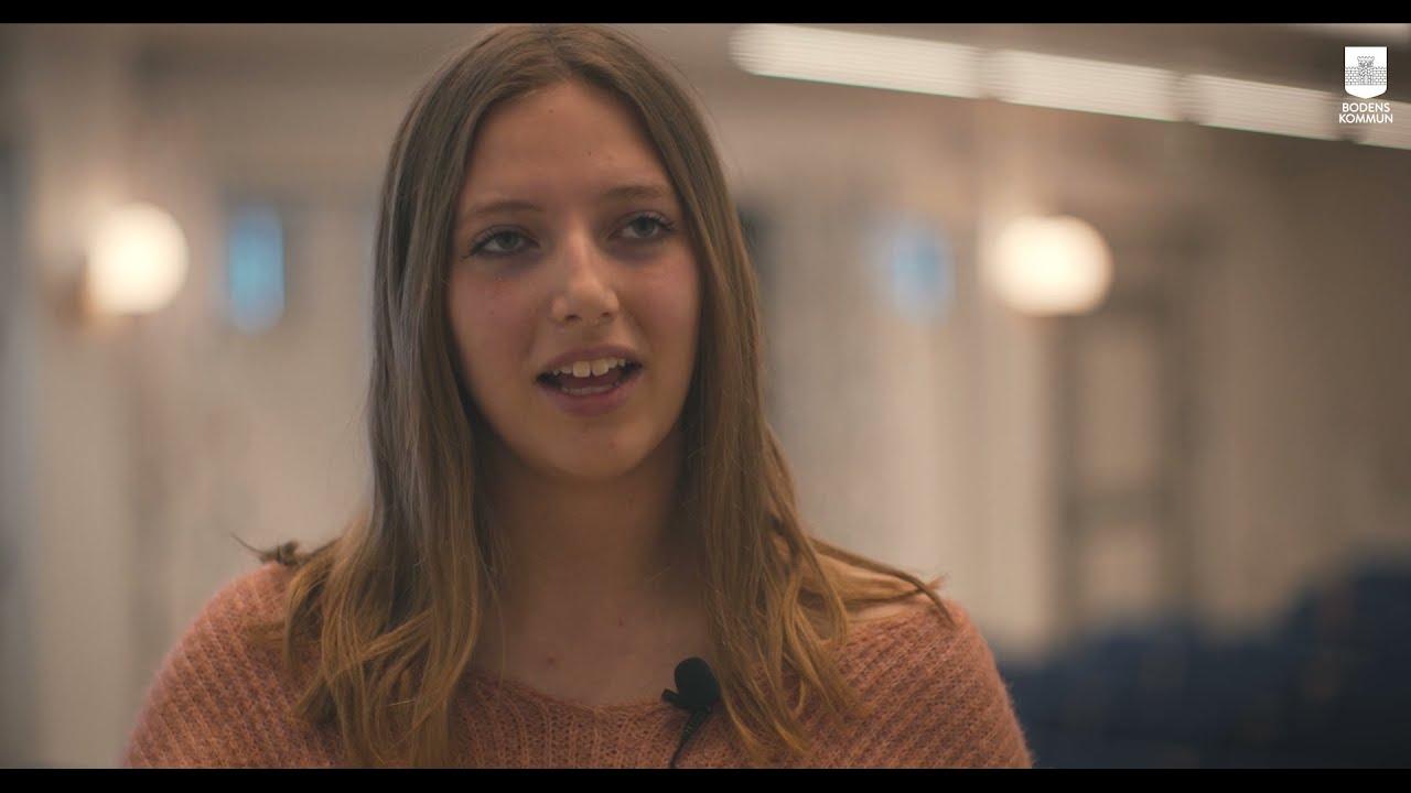 Linnea bjöd in H2 Green Steel till Björknäsgymnasiet