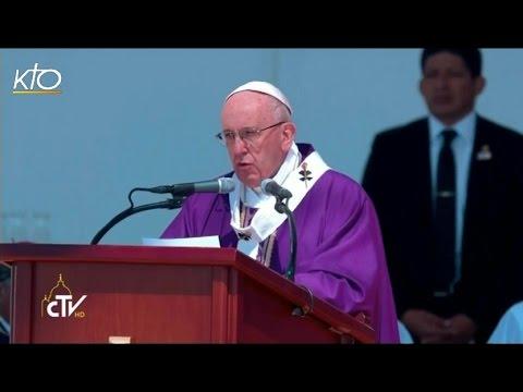 Homélie du Pape François lors de la Messe à Ecatepec et angélus
