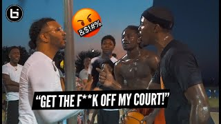 """""""GET THE F%*K OFF MY COURT!"""" Ballislife South Teaches Trash Talker A Lesson"""
