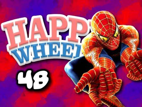 Happy Wheels w/ ChimneySwift11 #48 - The Amazing Spider-Man (HD)