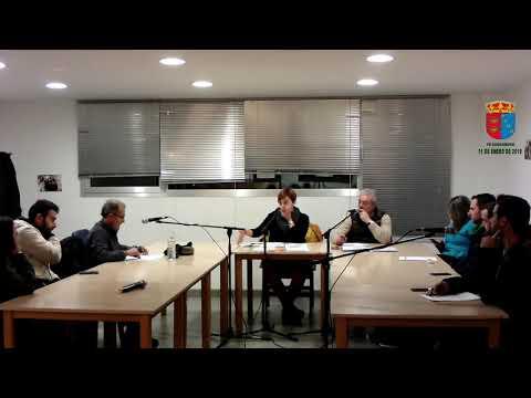 Pleno municipal Carcaboso 11 enero 2019
