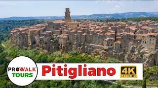Tuscany Hill Town Walking Tour [4K/60fps]