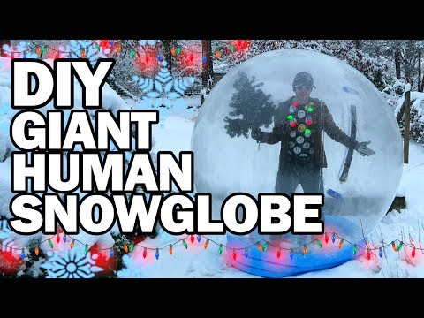 DIY Giant Human Snow Globe!!! - Man Vs Madness