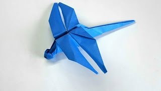 Origami Tutorial - How To Fold An Easy Origami Dragonfly
