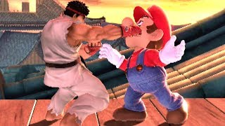 Ryu Uses Focus Punch/Focus Attack On Every Character in Super Smash Bros Ultimate