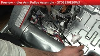 Idler Arm Pulley Assembly - GTDS850ES0WS GE Dryer