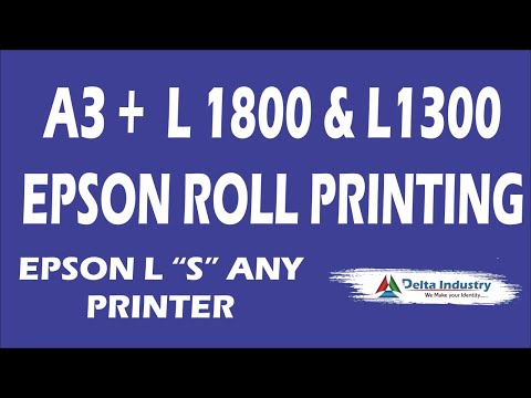 Epson L1800 Roll To Roll Printing Software