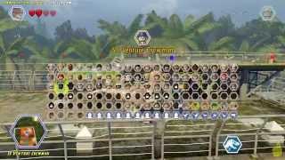 Lego Jurassic World: Communication Center FREE ROAM (All Collectibles) - HTG
