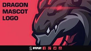 Dragon Mascot Logo | Speedart | Illustrator