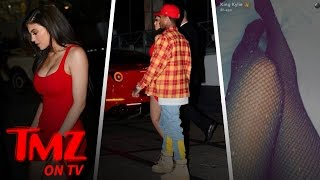 Kylie Jenner From Red Hot Mini To Sheer Sparkly Fishnets  TMZ TV
