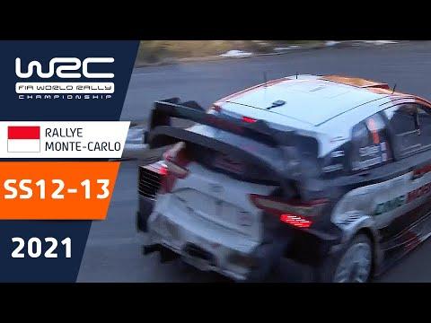 WRC 2021 絶対王者のオジェがヤリスWRCで快走しトップ 開幕戦のラリーモンテカルロ SS12-13ハイライト動画