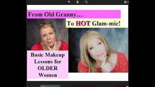 Old Granny to Hot Glammie! Basic Makeup Lessons * Step by Step ! Drugstore Products