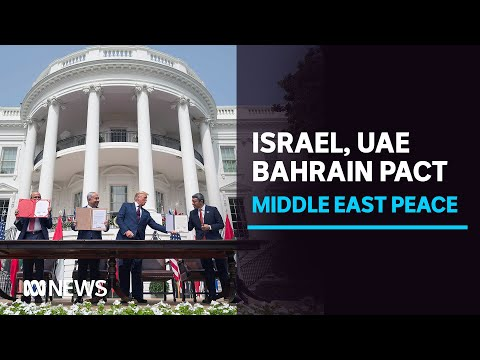 US President Donald Trump says Israeli pacts with UAE, Bahrain signal 'new' Middle East | ABC News