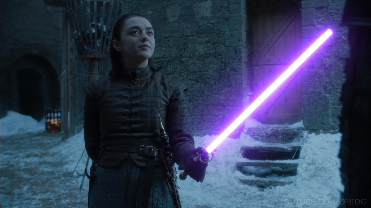Arya Vs Brienne, But With Lightsabers