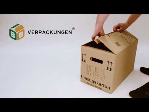 Umzugskarton Standard Aufbauanleitung   BB-Verpackungen®
