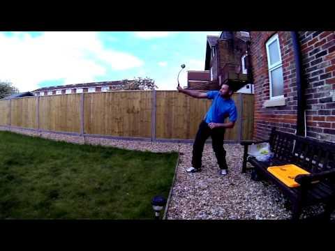 Dog ball thrower catch. Slow Mo. GoPro Hero 3 Black