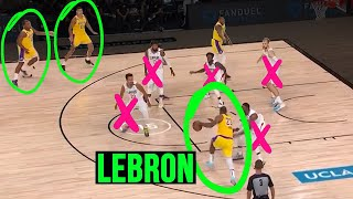Lebron James MASTERMIND Plays Vs Clippers