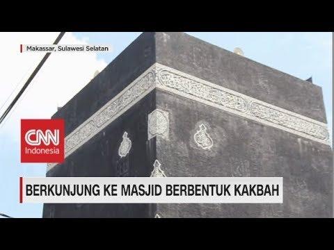 Unik, Masjid di Makassar Ini Berbentuk Kakbah