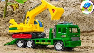 Rescue for crane heavy equipment tow truck car toy sand play - Kid Studio