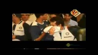 sachin crying for dada(Tendulkar Ganguly)
