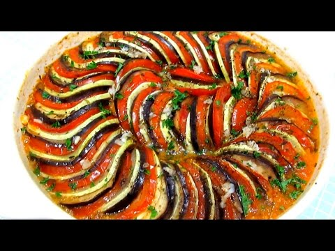 #Вкусно - РАТАТУЙ Запеченные Овощи Овощной Тиан Как приготовить #РАТАТУЙ Рецепт видео