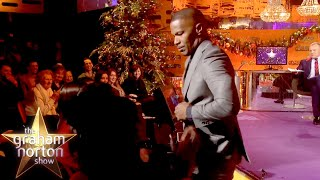Jamie Foxx Gives A Lap Dance To An Audience Member!   The Graham Norton Show