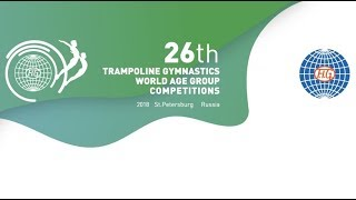 Trampoline Gymnastics World Age Group Competitions 2018, Saint-Petersburg, Russia, stream2
