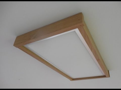 Einen Holzrahmen für LED-Panel bauen