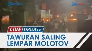 Detik-detik Pembubaran Bentrok Antar Pemuda Saling Serang Pakai Bom Molotov hingga Panah di Makassar