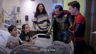 Spider-Man Cast Tom Holland, Zendaya, Jake Gyllenhaal Surprises Kids at Children's Hospital LA