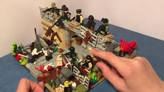 Lego самоделка на тему зомби апокалипсиса. Стена выживших