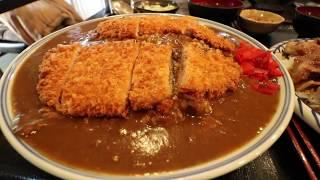 【大食い】伊東食堂 特大カツカレー&鳥羽の山丼【デカ盛り】