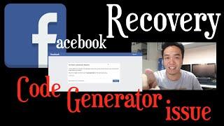 FACEBOOK RECOVERY - SOLUTION SA CODE GENERATOR ISSUE | Vino Santiago
