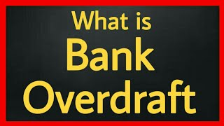 What is bank overdraft accounting