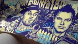 Blink-182 20th Anniversary MunkOne Poster Unboxing